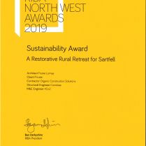 2019 RIBA North West Sustainability Award - Sartfell