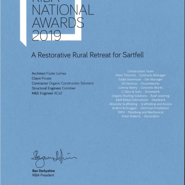2019 RIBA Regional Award