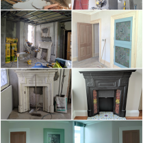 Maughold Dining room Before and After